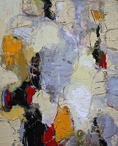 """Abstract Artists International: Contemporary Abstract Painting,Expressionism Art """"Dandelion II"""" by Abstract Artist Nijole Rasmussen"""