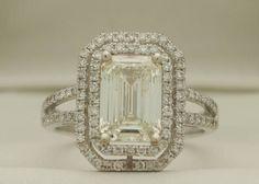 Beautiful emerald cut diamond engagement ring!