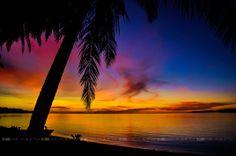 full colour sunset