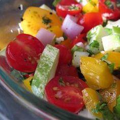 Fresh Tomato Healty Salad Allrecipes.com. This salad is bursting with flavor!!