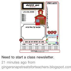 free teacher newsletter templates downloads newsletter templates