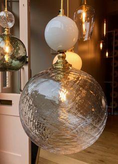Bespoke Pop light in the Christmas window of Rothschild & Bickers showroom Cross Street