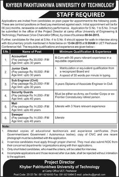 Pakistan Govt Jobs In National Institute Of Electronics Nie