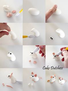 Fondant Cake Toppers #6: Tiny Mice - CakesDecor