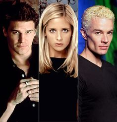 Angel, Buffy & Spike - I'm with Buffy... It'd be difficult to choose. (But I'd still pick Spike.)