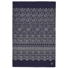 Ulster Weavers Cotton Tea Towel - Indigo Batik (100% Cotton, Navy)