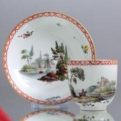 Frankenthal: Tasse mit Landschaften, Carl Theodor, 1774, Kaffeetasse, Reiter cup | eBay