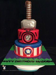 Coolest Avengers Cake... Coolest Birthday Cake Ideas