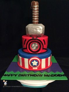 Coolest Avengers Cake... Coolest Birthday Cake Ideas