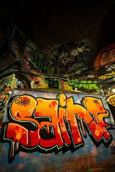 The fills on this are nice! Graffiti Words, Graffiti Wall Art, Graffiti Drawing, Graffiti Painting, Graffiti Alphabet, Graffiti Lettering, Street Art Graffiti, Graffiti Wildstyle, Hip Hop Art