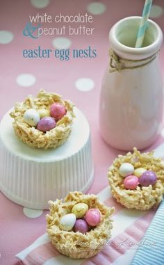 A house full of sunshine: White chocolate Easter egg nests