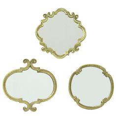 Selectives 3 Piece Meadow Wall Mirror Set