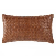 Buy our Woven Leather Pillow online. You love great design and we create beautiful products to inspire your vision. every time you work with us. Multiple sizes and colors.