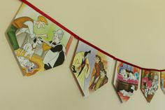 101 Dalmatians - Storybook Paper Bunting by MagpieSailor on Etsy, $14.50