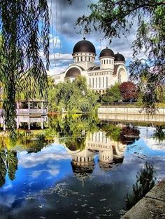 Arad, Romania, where we lived three months and visited many, many times. I've sat in this park and studied language...