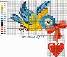 Points de croix *♥* Cross stitch.