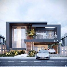 Modern Bungalow House Design, Best Modern House Design, Modern Exterior House Designs, Duplex House Design, Dream House Exterior, Modern Architecture House, Small House Design, House Front Design, Exterior Design