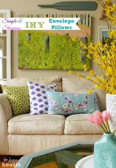 Follow this simple tutorial to make your own DIY Envelope Pillows in a snap!