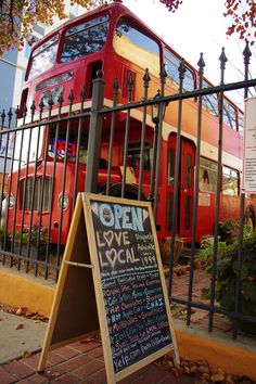Double decker bus - coffee shop in #downtown #Asheville NC