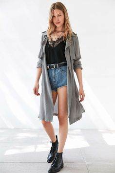 Moon River Woven Trench Coat - Urban Outfitters