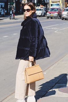 The blogger hits the streets with our new T Satchel.