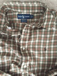 Ralph Lauren POLO Mens Yarmouth Plaid Button-Down Shirt W Polo Pony (17 36/37) #RalphLauren #ButtonFront