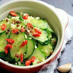 Spicy Cucumbers Salad