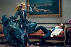 Caroline Trentini and Peter Dundas  Photographed by Norman Jean Roy