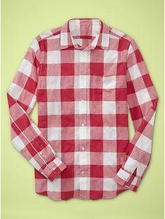 Buffalo plaid shirt (slim fit) | Gap