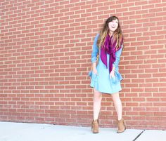 See how @Megan Zietz styled the @Lori Goldstein #TSV with a bright scarf and denim top