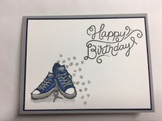 """I don't make very many teen birthday cards, mostly because there are not a lot of teen orientated stamps! The """"Epic Celebrations"""" 2018 S..."""