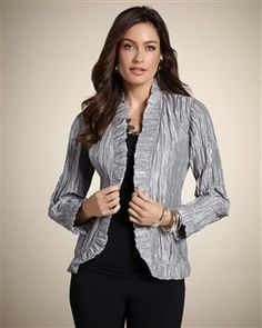 Chico's Royal Ruffle Rhea Jacket