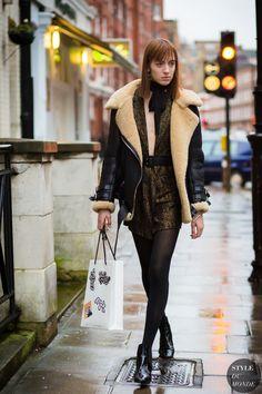 London Street Style sheepskin. 2016