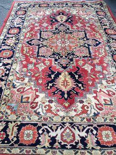 Persian rug. Heris Rug World, Rugs On Carpet, Carpets, Global Style, Islamic World, Arabesque, Persian Rug, Kilim Rugs, Bohemian Rug