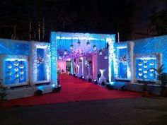 Madhur caterers ka wel come gate Wedding Backdrop Design, Wedding Hall Decorations, Wedding Stage Design, Marriage Decoration, Tent Decorations, Reception Stage Decor, Wedding Reception Backdrop, Event Decor, Wedding Gate