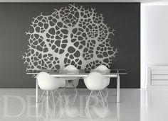Korona drzewa - Drzewa - Naklejka na ścianę - Demur