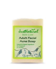 Adult Acne Facial Soap - - Discover how natural soap can improve your skin. Most soaps and cleansers for acne are made from harsh chemicals. Often, at first they may seem to help clear up your acne only to have it return stronger. Instead, this clarifying natural acne body soap is made the old fashion way by hand with the purest natural ingredients.It is fragrance free, alcohol free and chemical free.