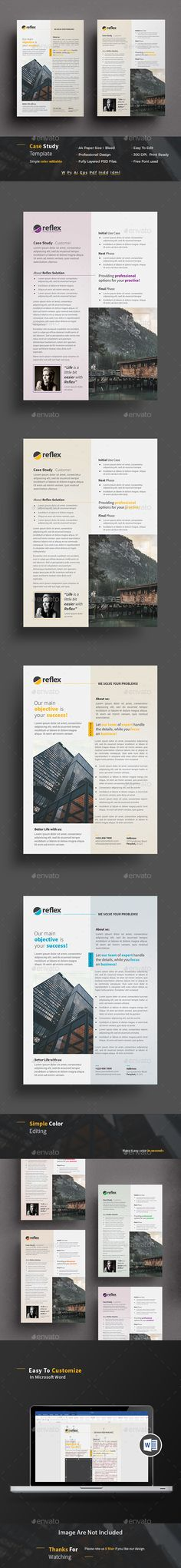 #Case #Study #Template | Flyer - Newsletters Print Templates