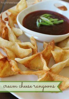 Cream Cheese Rangoons | High Heels & Grills