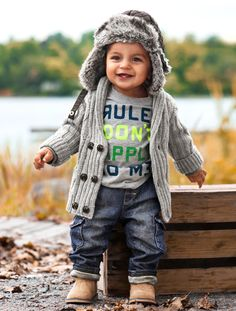 Kids | Baby Boy Size 4m-2y | H&M RS-love the hat, love the sweater, love the boots, luv all of it!