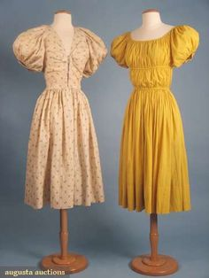 Dresses, Claire McCardell, 1940s, Augusta Auctions.