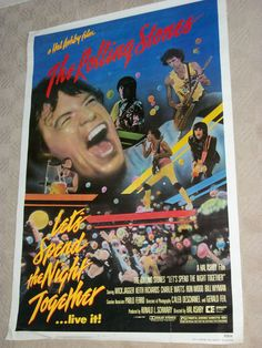 """Rolling Stones - Let's Spend The Night Together - Movie Poster 27"""" x 40"""" / Mick Jagger / Keith Richards"""