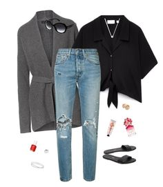 """""""#129"""" by heelsandgo on Polyvore featuring Levi's, Tkees, Links of London, Maison Margiela, Ray-Ban, Kobelli, The Body Shop, Essie, Marc Jacobs and TONYMOLY"""