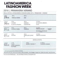 Del 29 de Agosto al 2 de Septiembre se realizará el Latinoamérica Fashion Week en Buenos Aires   Del 29 de Agosto al 2 de Septiembre en el SALÓN LIBERTADOR DEL SHERATON HOTEL y en conmemoración del Bicentenario 2016 se realizará LATINOAMERICA FASHION WEEK  Los diseñadores de Haute Couture Pre Couture Difusión y nuevos talentos de Argentina mostrarán sus colecciones Primavera/Verano 2016/17. Representando a Paraguay el diseñador CABURE By Hugo Vázquez; de Colombia el diseñador Eduardo…