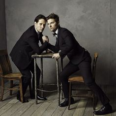 Hollywood's Hottest Couples Spent Oscar Night With Vanity Fair #Say hello to Hollywood's newest bromance, Paul Rudd and Adam Scott.