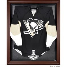 Pittsburgh Penguins Fanatics Authentic 2016 Stanley Cup Champions Brown Framed Jersey Display Case - $159.99