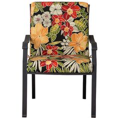 """Improvements Hinged Seat/Back Cushion 40""""x20""""x3"""" - Tropical Oasis... (1.023.535 VND) ❤ liked on Polyvore featuring home, outdoors, outdoor decor, outdoor toss pillows, outdoor accent pillows, outdoor patio decor and tropical patio decor"""