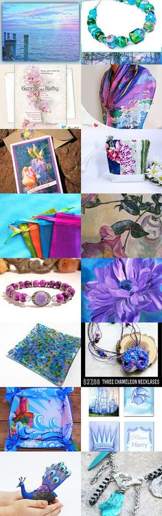Stunning Blues and Pinks Unique Summer Gifts by Ellen Lyons Nagel on…