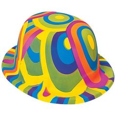 ac6bbbe2d1d Dozen Rainbow Derbies  Liven up your attire while wearing this rainbow derby.  Each derby hat is decorated with a bright colored swirl design.