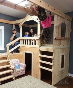 Ana White | Build a DIY Basement Indoor Playground with Monkey Bars | Free and Easy DIY Project and Furniture Plans DIy Furniture plans build your own furniture #diy